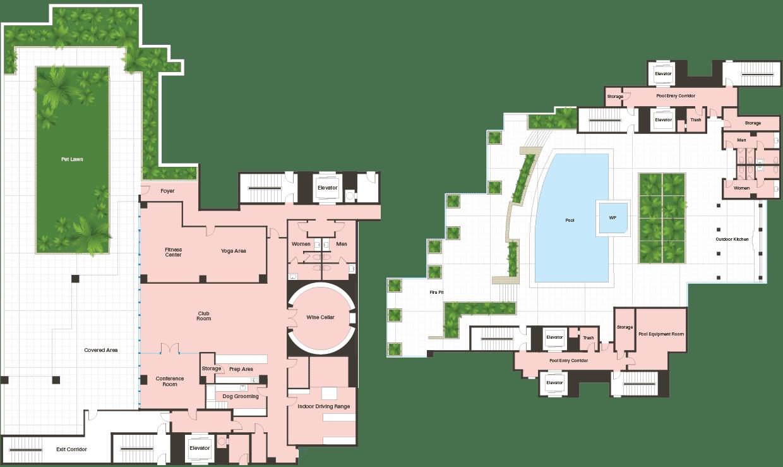 Amenities Floorplan
