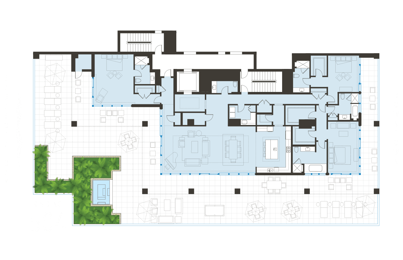 Floorplan Unit 504 BLVD Sarasota