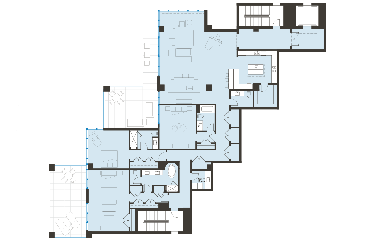 Floorplan Unit 602 BLVD Sarasota