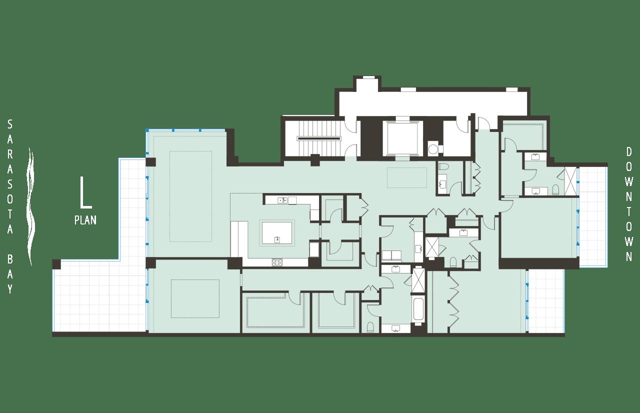 Floorplan L BLVD Sarasota Floorplan