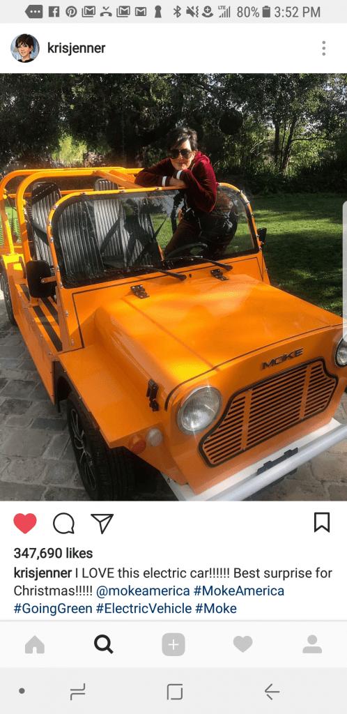 Kris Jenner Moke Jeep