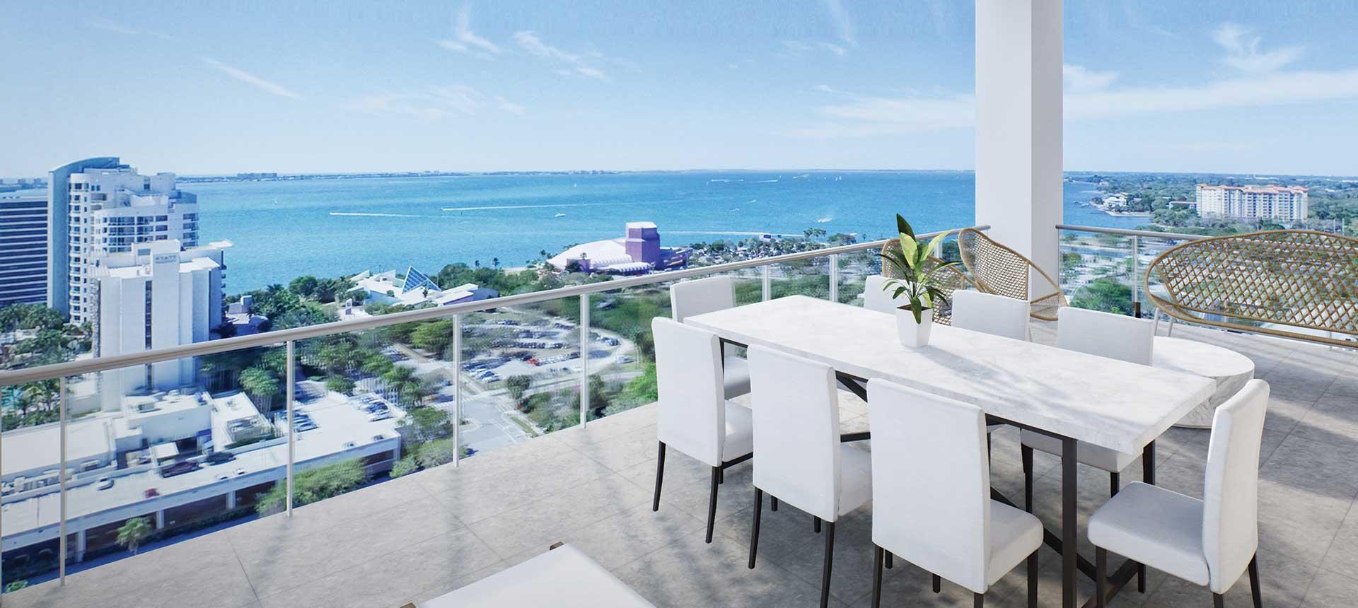 Ocean view from Blvd Sarasota