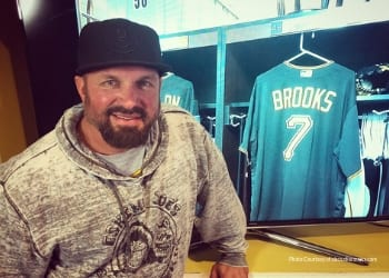 Garth Brooks is in Bradenton playing baseball with the Pittsburgh Pirates for spring training BLVD SArasota