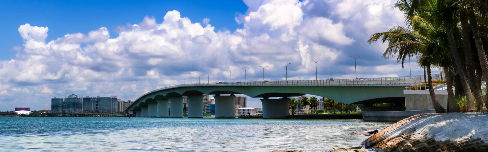 View of the Waterfront and bridge near BLVD Sarasota