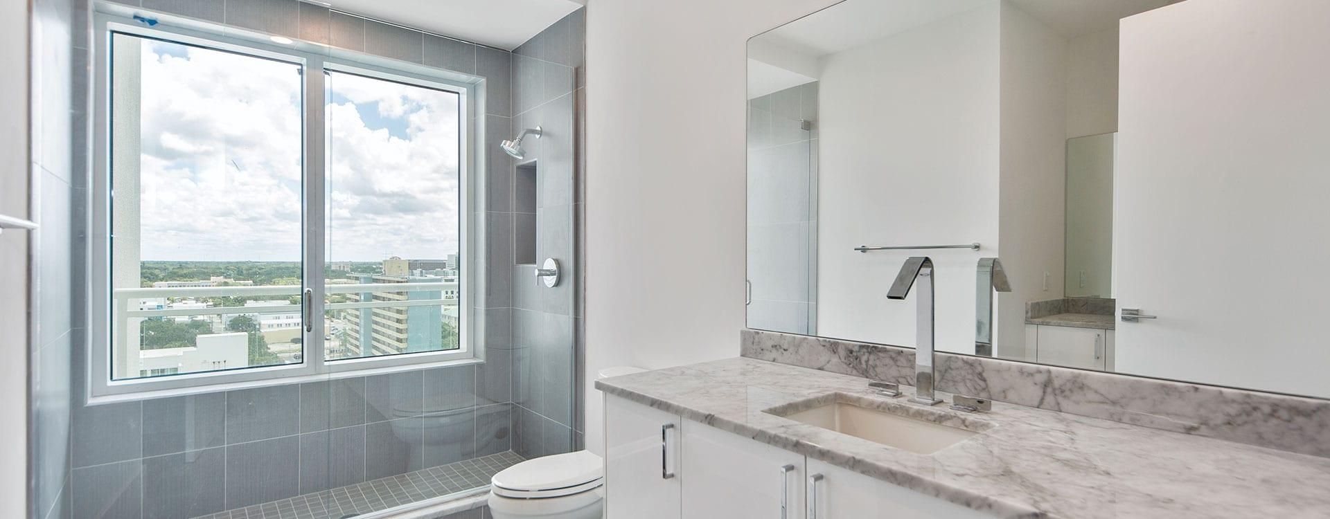 BLVD Sarasota Residence 1102 Bathroom with a view