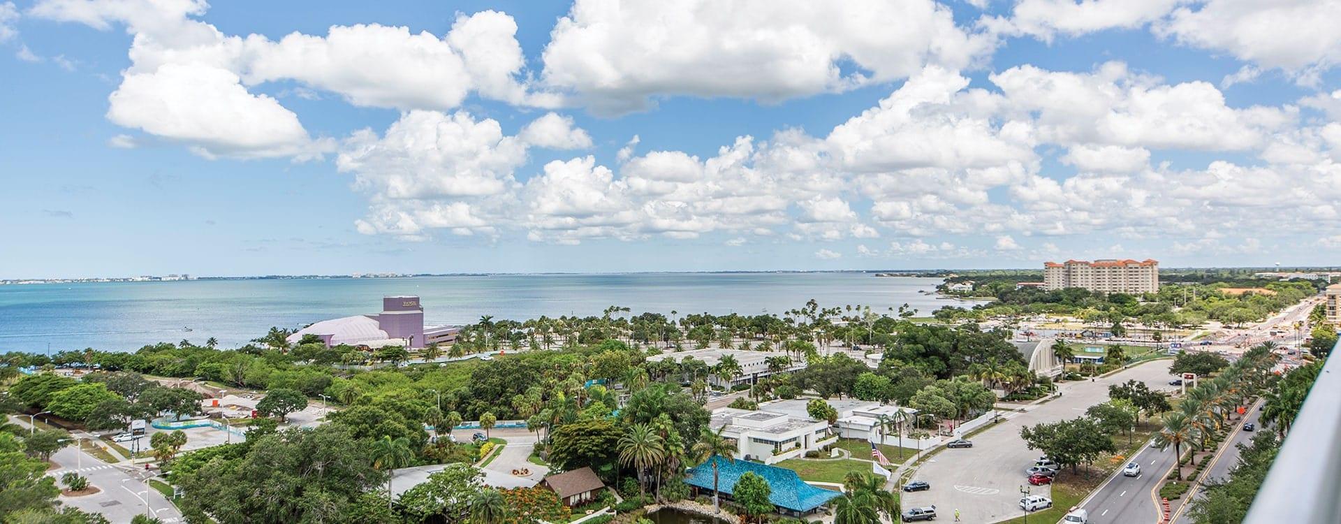 BLVD Sarasota Residence 1102 Terrace view of sarasota and the bayfront