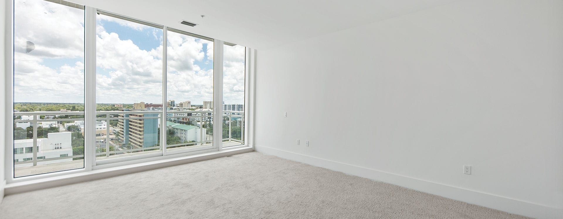 Blvd Residence 1102 Bedroom looking out to downtown sarasota