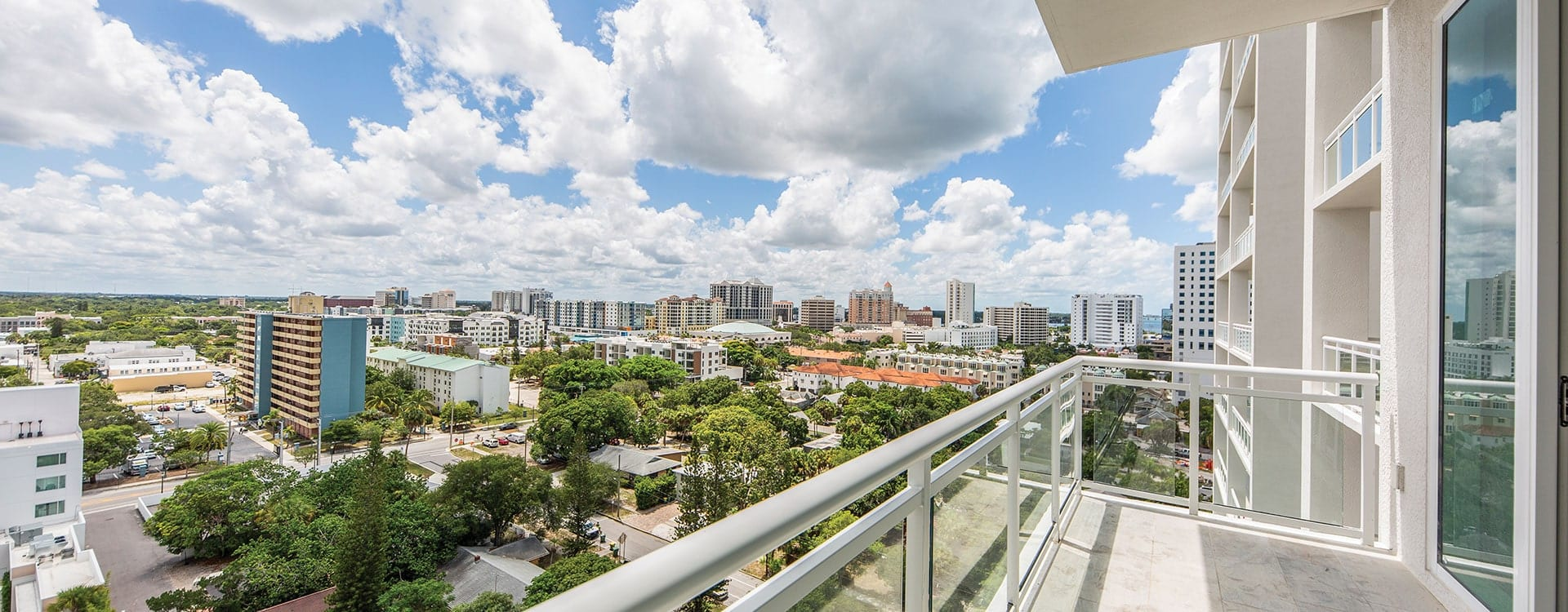 Blvd Residence 1102 Terrace looking out to downtown sarasota
