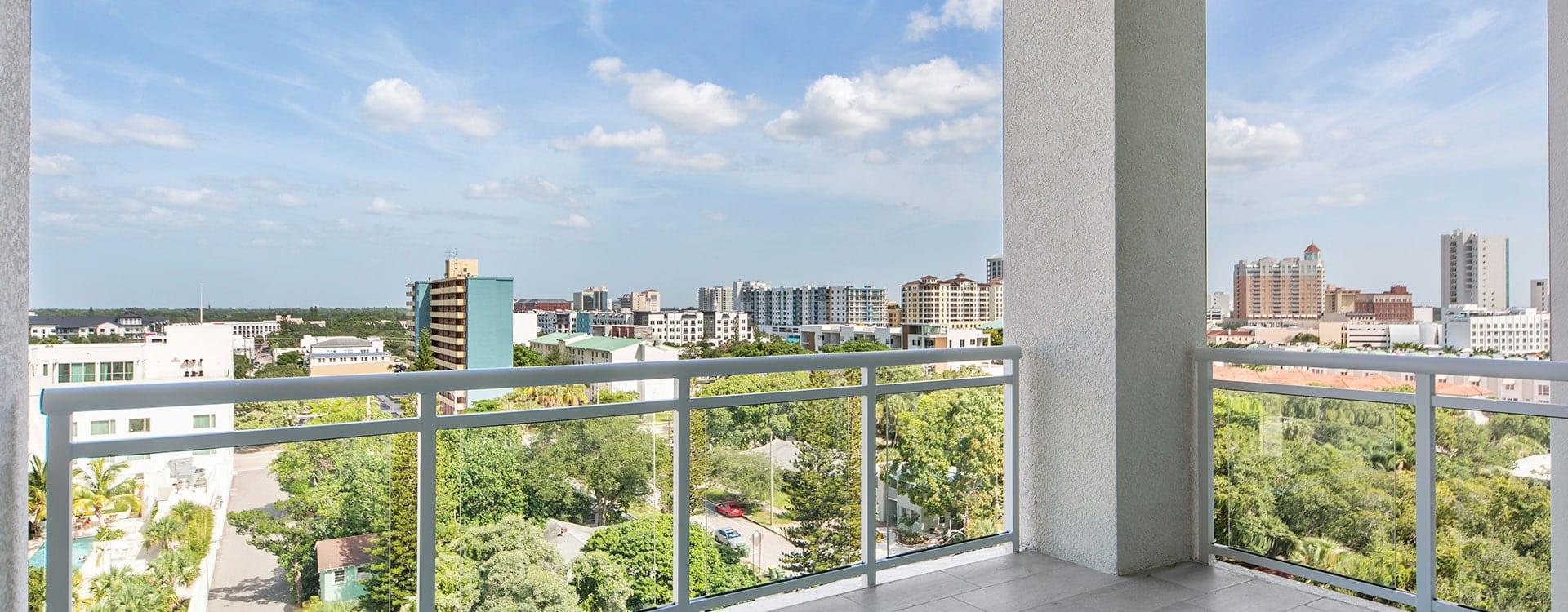 BLVD Sarasota Residence 803 Terrace View of downtown sarasota