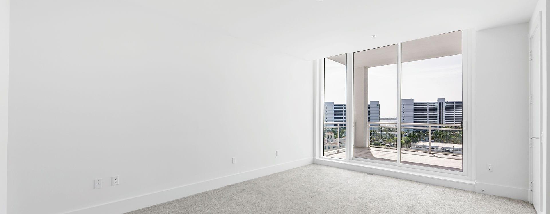 BLVD Sarasota Residence 803 Bedroom with terrace
