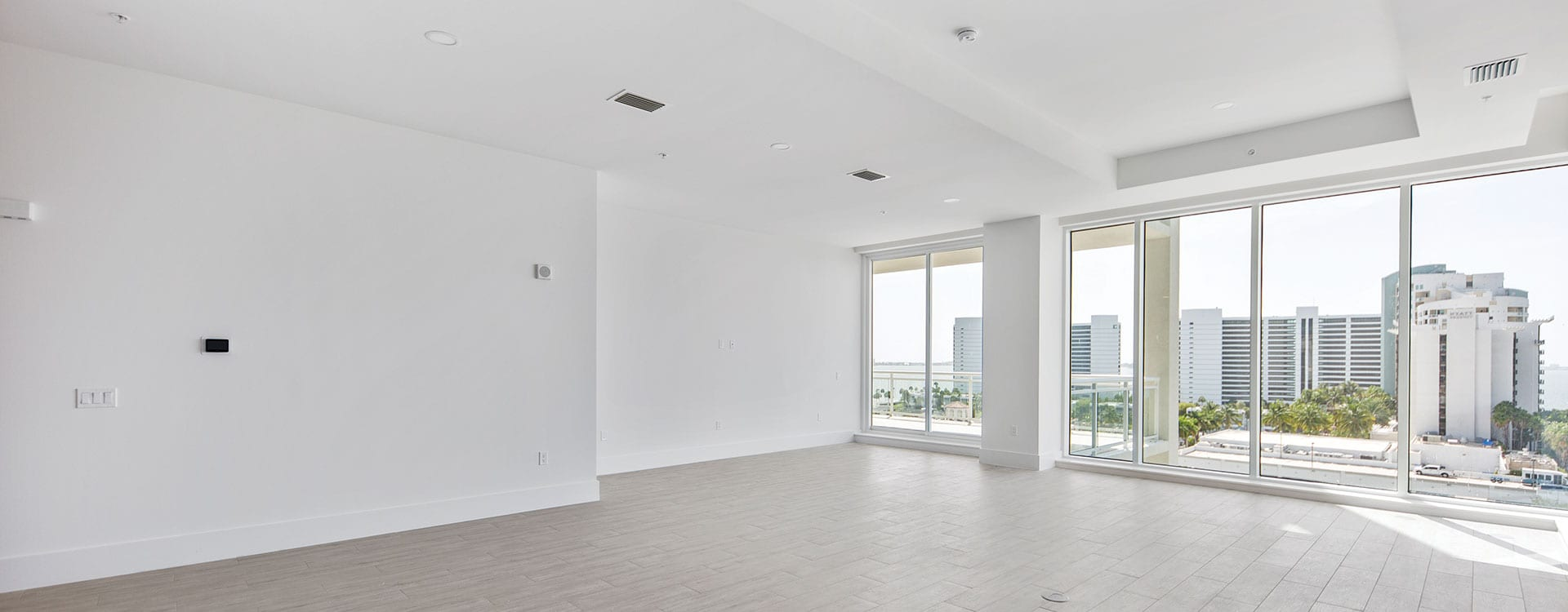 BLVD Sarasota Residence 803 Great Room with a view of the bayfront
