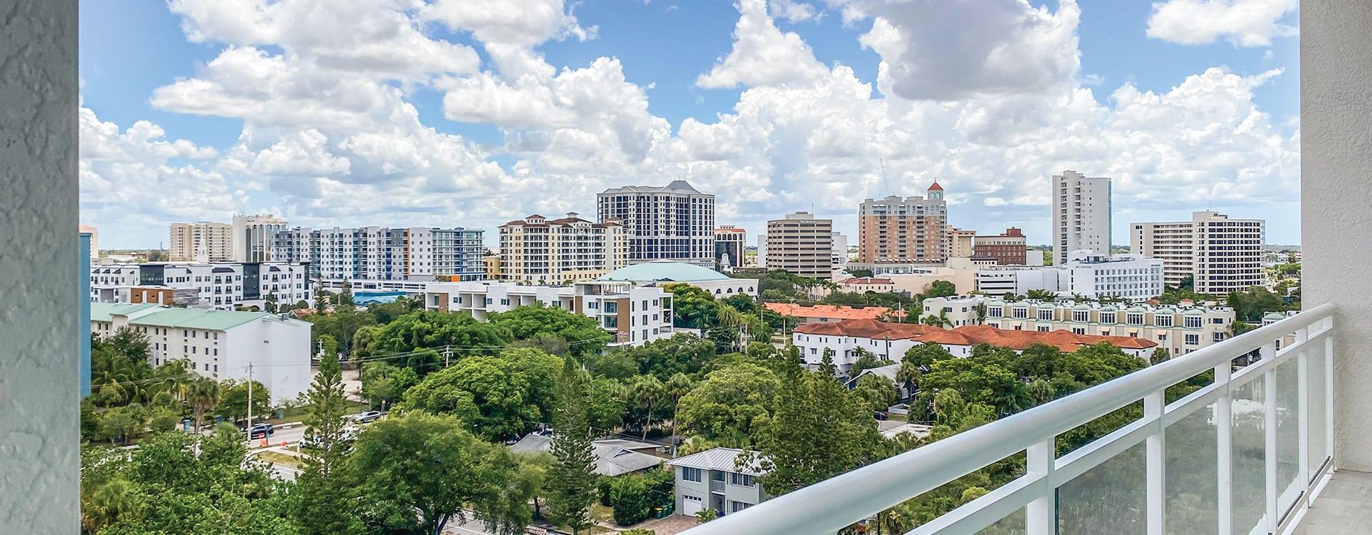 BLVD Sarasota Residence 901 Terrace with a view of downtown sarasota