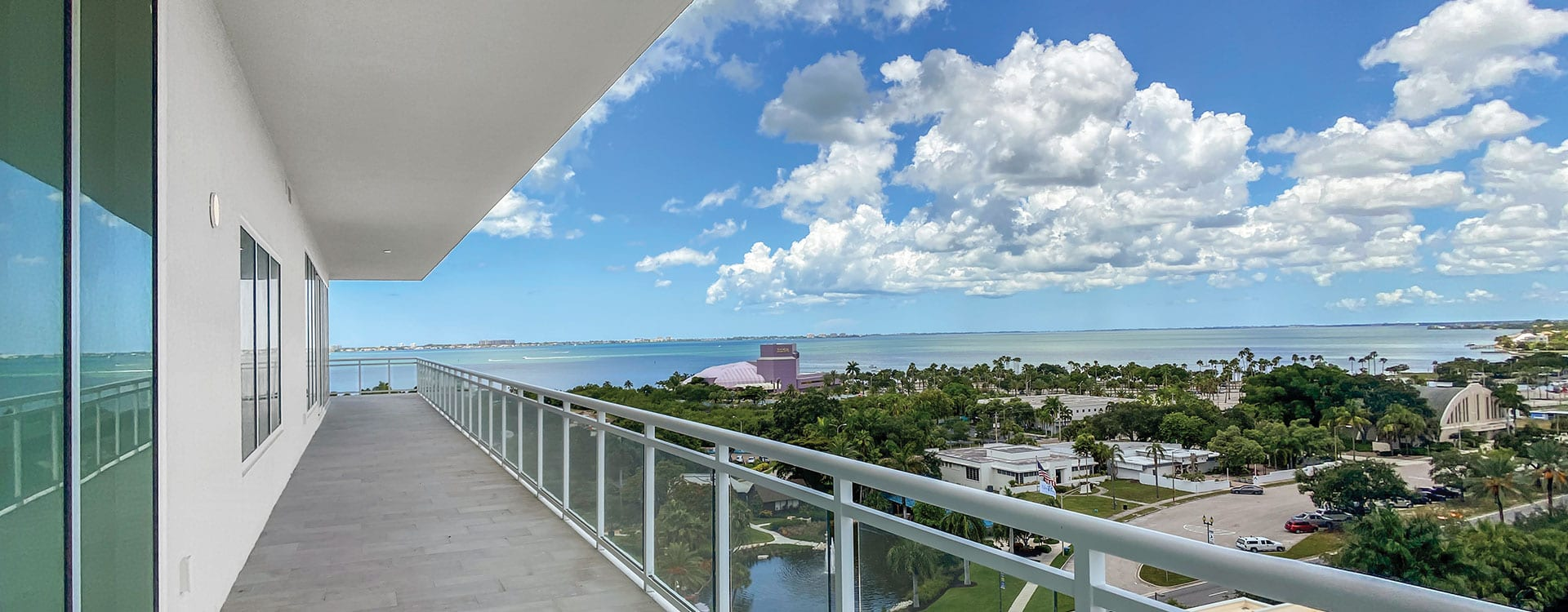 BLVD Sarasota Residence 901 Terrace with a view of the Van Wezel and the Bay