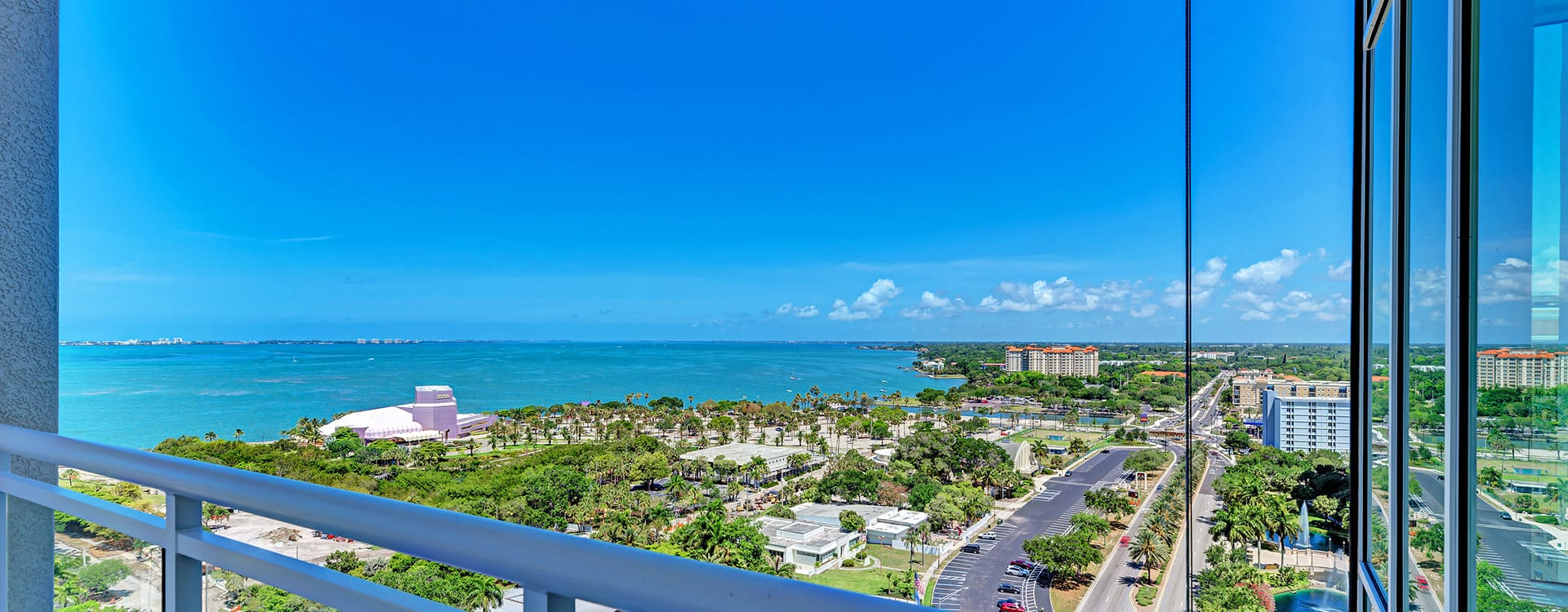 gulf of mexico views from BLVD Sarasota Residence 1603 terrace