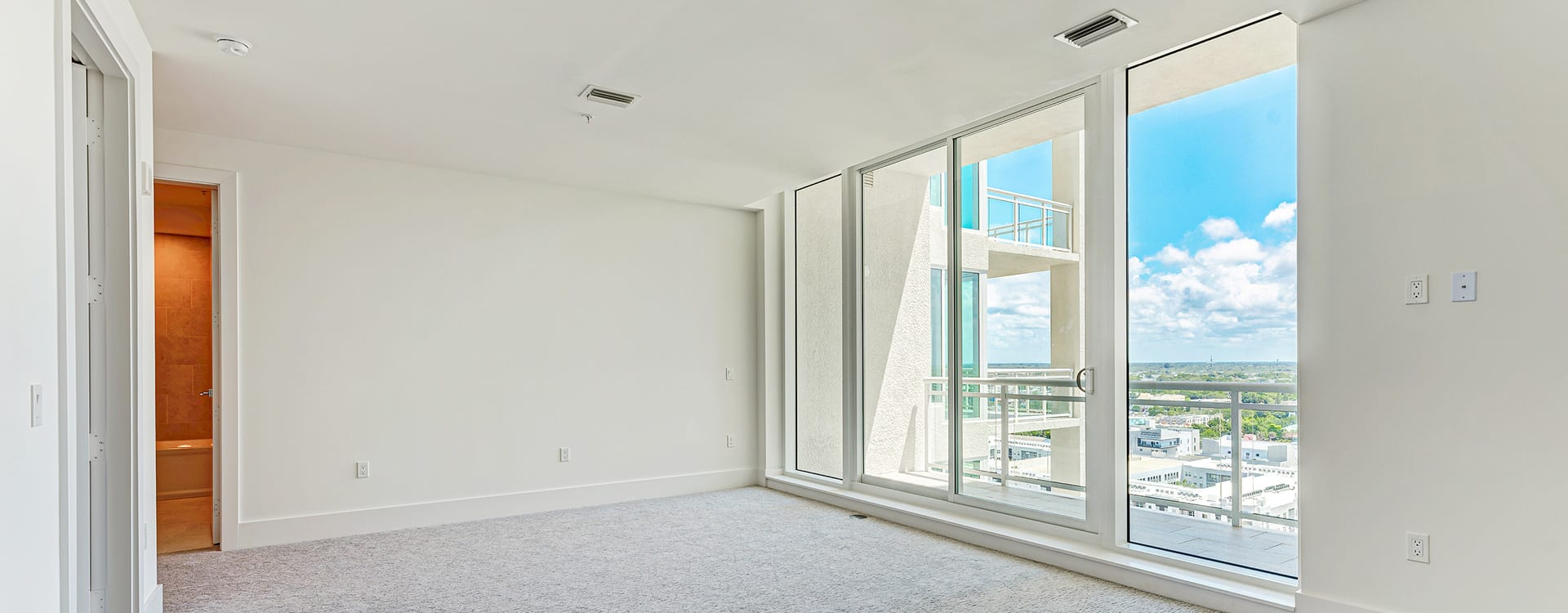 bedroom with view at BLVD Sarasota Residence 1603