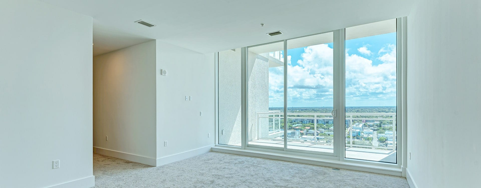 bedroom at BLVD Sarasota Residence 1702 with views